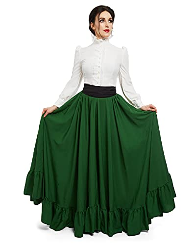 Downton Abbey Edwardian 3 pc Costume (2XL/3XL, Hunter Green)