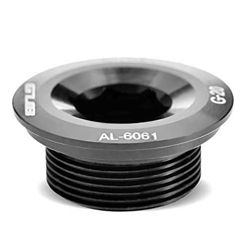 Perno de Manivela, GUB Tornillo de Bici, Aleación de Aluminio, Tornillo de Perno de Fijación de Manivela para Juego de Bielas 590 596 XT XTR SLX(Negro)