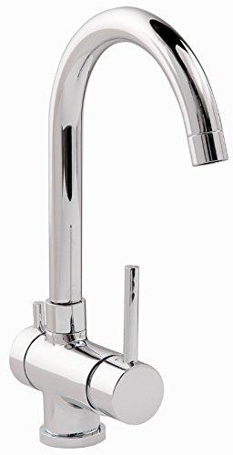 'aquaSu® Einhandmischer Bali für Küchenspüle mit Geräteanschluss | Chrom | Wasserhahn | Spüle