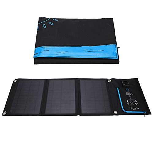 Luroze Cargador Solar de CC, el Panel Solar del Cargador Solar del silicio monocristalino para Acampar el hogar de RV