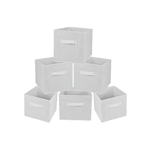 Rebecca Mobili Set de 6 Cajas de Almacenamiento Cubo