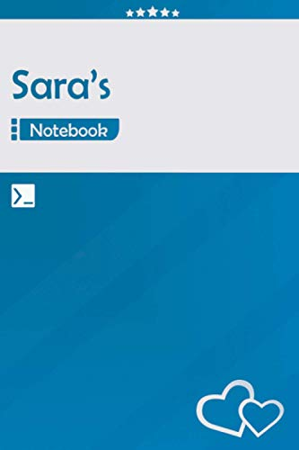 Sara's Notebook: Lined Notebook Journal - Awesome Gift for Sara, Your name notepad - 120 Pages - Large (6 x 9 inches) | Blue Color | Sara Name