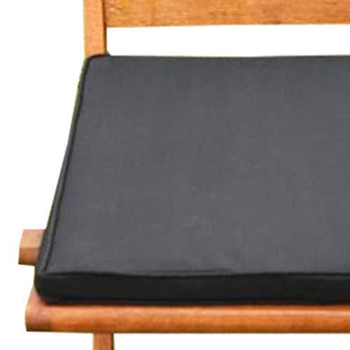 UK-Gardens Coussin de Chaise de Meubles de Jardin Noir Galette de Chaise pour chaises de Jardin Pliante
