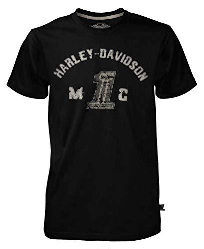 Harley-Davidson 30291523 - Maglietta a maniche corte da uomo, colore: Nero - nero - 3XL