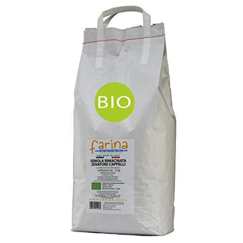 semola rimacinata biologica di grano duro antico varietà Senatore Cappelli (confezione farina da 5 kg)