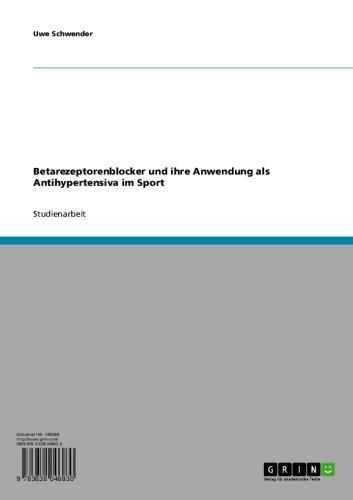 Betarezeptorenblocker und ihre Anwendung als Antihypertensiva im Sport