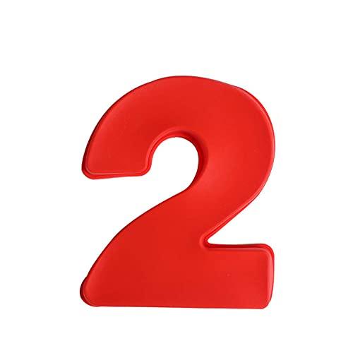 Moldes de silicona 3D grandes letras de silicona número árabe fondant Cake Pan para cumpleaños, festival, relación, matrimonio, boda, fiesta, 25,4 cm (2)