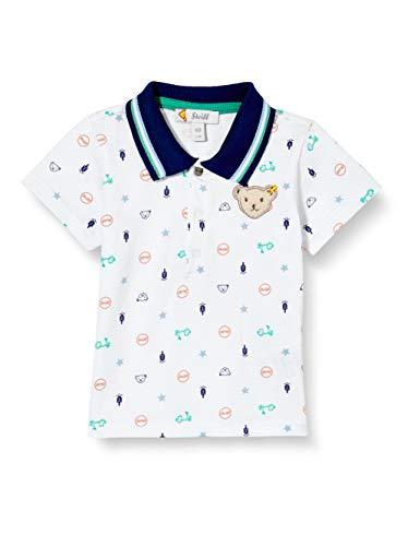 Steiff Baby-Jungen Poloshirt T-Shirt, Bright White, 068