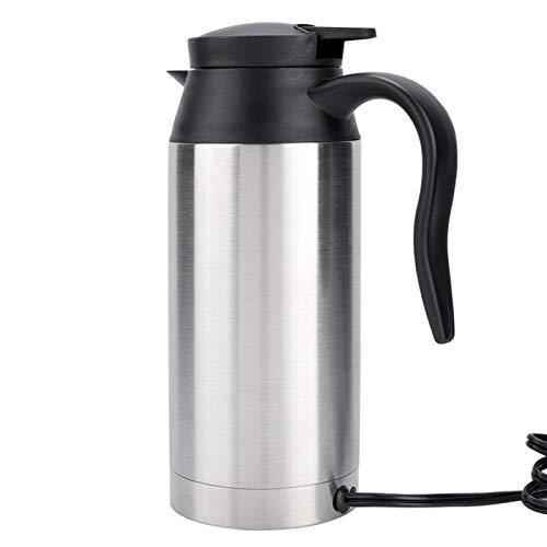 Conveniente taza eléctrica para automóvil, hervidor eléctrico automático de acero inoxidable de...