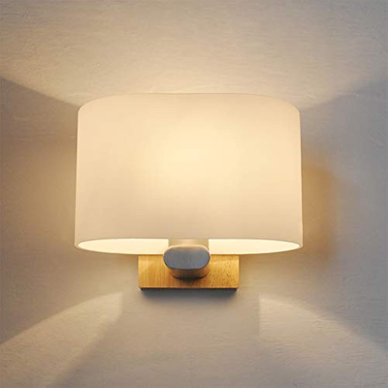 ZQH Kreativ Eiche Wandlampe, Dachgeschoss Modern Massivholz LED Wandleuchte Fixture Innen- Bedside Leuchter E27 Hotel Restaurant Cafe Gang Log Dekorativ Beleuchtung,h1620cm