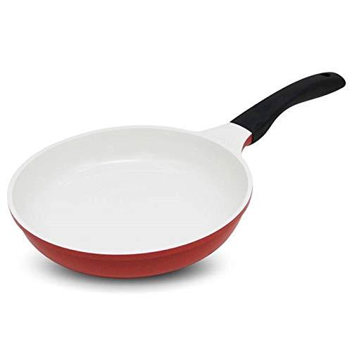 ECSWP Antiadherente sartén de cobre con revestimiento de cerámica y cocción por inducción, horno y lavavajillas Pan de cerámica (Size : A)