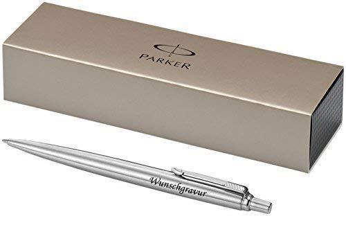 Esclusivo Parker Penna a Sfera Modello Jotter Argento Incl. Incisione Incisione Laser Inciso Nuovo
