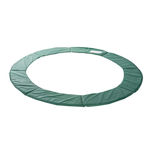 Outsunny HOMCOM Cojín Cubierta de Protección Borde Resorte para Cama Elástica Trampolín Redondo Diámetro Ø366 cm Verde