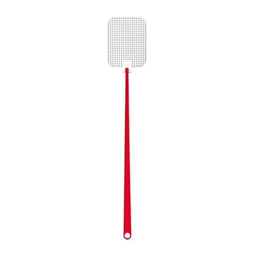 Fliegenklatsche, Kunststoff, 45,5cm, rot (5 Stück)