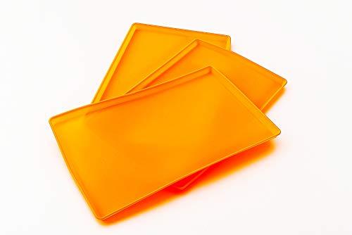 Tauro Essiccatori, 3 vaschette antiaderenti Silidrop per Essiccatori Alimentari, in Platinum Silicone, riutilizzabili. Prodotto 100% Made in Italy