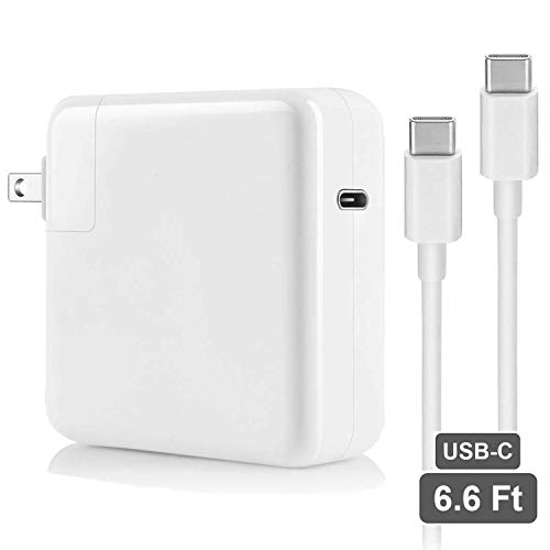 61W USB C Power Charger Adapter,Xpoliman 61W Type C Fast Wall Charger Compatible with MacBook Pro 2018, MacBook Air, iPad Pro 12.9, 11,Lenovo, Samsung, Type C Device-with 6.6ft USB C-C Cable (White)