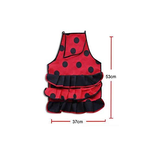 Cisne 2013, S.L. Grembiule da Cucina antimacchia Motivo Fenicottero Nero Pois Rossi 53 x 37 cm Colore Rosso
