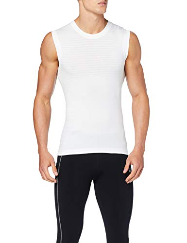 Odlo Herren Unterhemd BL TOP Crew Neck Singlet Performance Light, White, XL, 188162_10000_XL