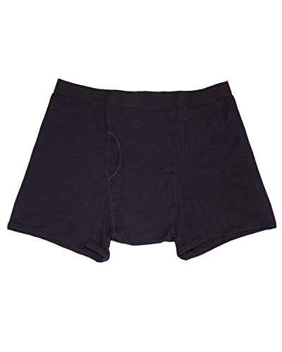 iHeartRaves Men's Black Stash Boxer Briefs - Secret Pocket Underwear (Medium)