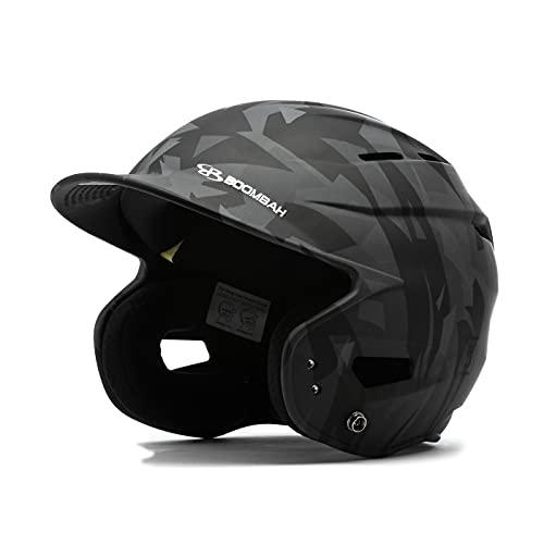 Boombah DEFCON Stealth Camo Batting Helmet Sleek Profile Black - Size Senior 7  - 7 3 4