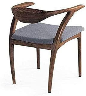 Shanghai Dining Chair by Organic Modernism - Walnut & Slate Grey Tweed