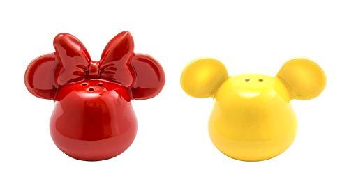 Joy Toy 62145 MICKEY MOUSE 3D KERAMIK SALZ-UND PFEFFERSTREUER GELB UND ROT