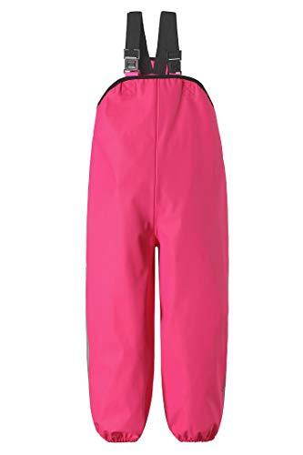 Reima Kinder Regenhose Lammikko Candy Pink – Regenhose für Kinder mit verstellbarem Bund – wasserdichte Matschhose mit verstellbaren Hosenträgern – Größe 80