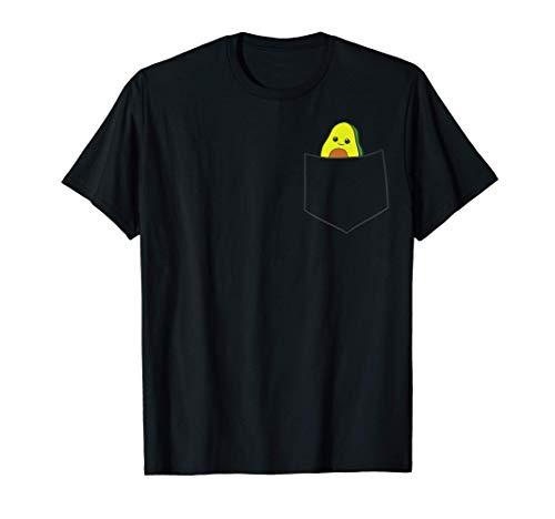 Lindo aguacate en el bolsillo Alimento vegetariano Avocado Camiseta