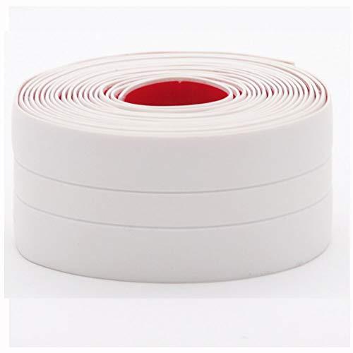 YFOX Cinta adhesiva impermeable,se puede utilizar en muchas esquinas, cinta de sellado de pared de PVC,cinta de sellado flexible, adecuada para baño,cocina,puertas y ventanas, 320 x 3,8 cm (blanco)