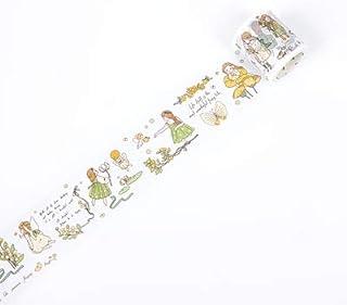 マスキングテープ かわいい 欢乐颂 少女 日常 人物 手帳 シール 海外マスキングテープ (花仙子索菲亚)