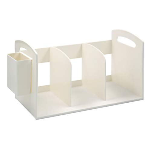 YYLL Desktop Sookends Bottershelf para Estudiantes de Dormitorio, Organizador de Libros fácil de Mover con Estuche (Color : White)