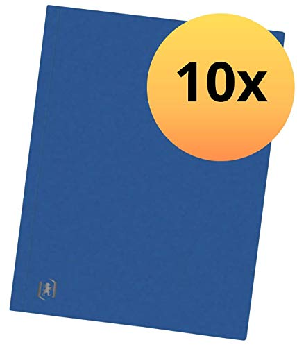 Oxford Top File + Aktendeckel A4, extrastark aus Karton, blau, 10er Pack