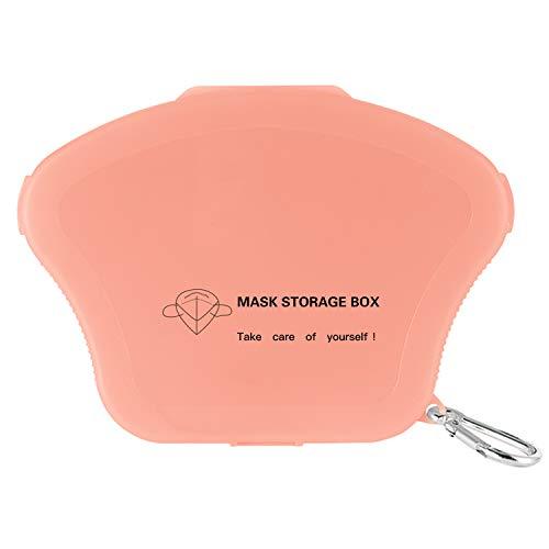 AMZBY Caja Mascarillas 1 Pieza Caja para Guardar Mascarillas Bolsa Portátil de Almacenamiento de Mascarillas Caja Porta Mascarilla Quirurgicas (Rosa)