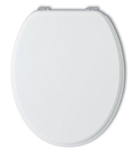Kiamami Valentina Sedile WC Universale Bianco COPRIWATER in Legno Laccato