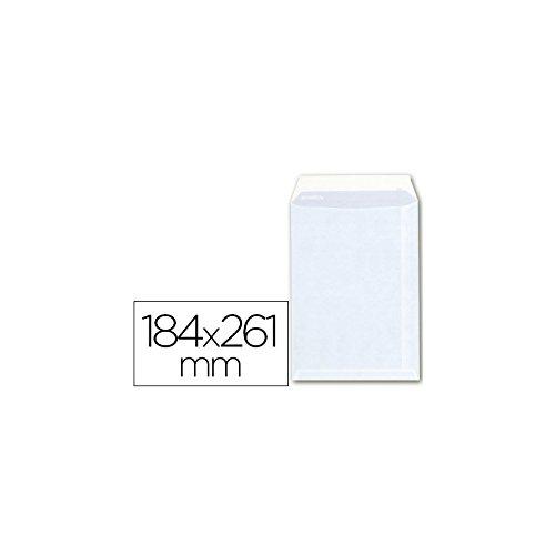 Sam - Caja 250 Bolsas Papel Blanco 100 Gr Tira Silicona 184X261 Cm Cuarto Prolongado