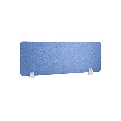 HEFUTE Büro Trennwand Datenschutz-Panel Schreibtischteiler mit 2 Klemmen Bildschirm Büro Schule Zubehör für Studenten 30 * 80 Blau