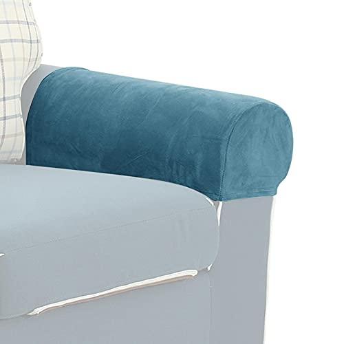 FDKJOK, set di 4 copri braccioli elasticizzati per poltrona, poltrona, poltrona, braccioli per mobili, copribraccioli e poltrone, in spandex e poliestere (I)
