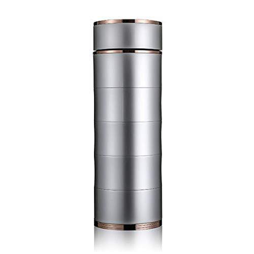HRDZ Taza de Plata 999 Taza de Plata Forro Masculino y Femenino 6.5x18.6cm Taza de Agua de Plata Taza de té Taza de Regalo Premium Taza de Viaje Vaso de Oficina Plata 350ml