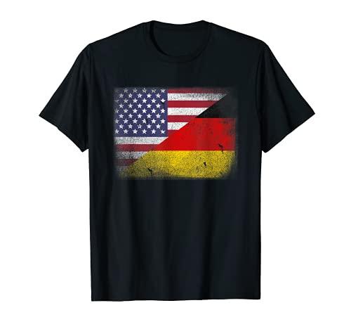 Deutsch-Amerikanischen Flagge T-Shirt Deutschland USA