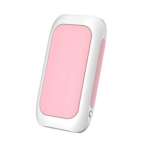 Feixunfan Calentador de manos recargable con luz LED de 5200 mAh, portátil, recargable, para deportes al aire libre, oficina (color: rosa, tamaño: un tamaño)
