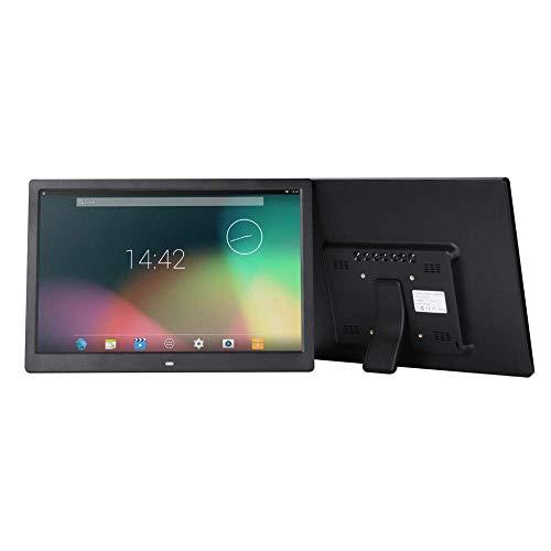 Mutmi 15 Zoll Digitaler Bilderrahmen, Wireless-LAN Touch Screen Display - automatisch drehen, Fotos Via App, E-Mail, Cloud - Touch Screen/Mausbedienung,fünfzehn,Schwarz