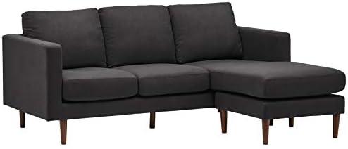 Best Amazon Brand – Rivet Revolve Modern Upholstered Sofa with Reversible Sectional Chaise, 80\