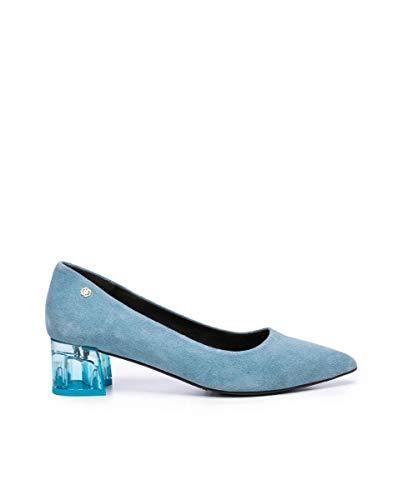 Cuplé Damen Salon-Schuhe in Hellblau, Blau - Himmelblau - Größe: 35 EU