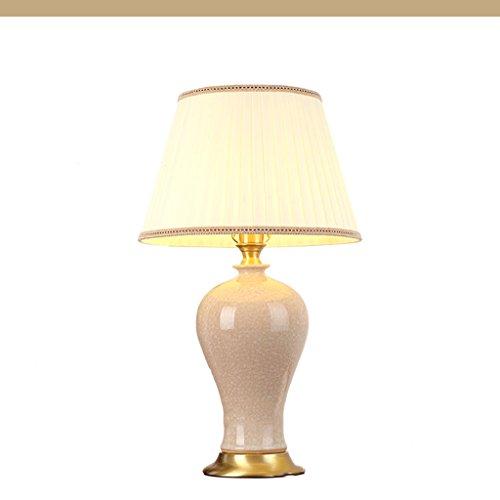 Lampe de table/lampe de chevet-lampe de table atmosphère lampe de chevet vase en céramique lampe de table salon style américain grande lampe de table de luxe