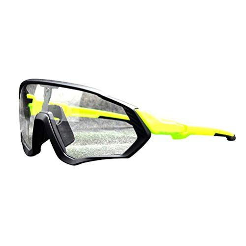 Yusat Gafas de ciclismo, fotocromáticas Ciclismo Gafas Hombres Mujeres MTB Deportes Gafas de Montaña Bicicleta TR90 Marco UV400 Protección Ciclismo Gafas