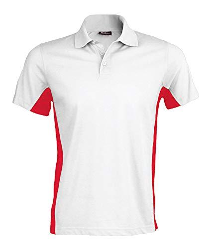 Kariban Poloshirt in Kontrastfarben K232, Größe:3XL;Farbe:White/Red
