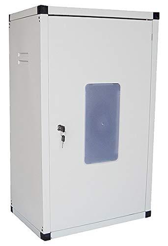 takestop® Box Caldaia Cassone Copricaldaia in Acciaio Zincato e Verniciato Bianco Boiler Copriscaldino Rinforzato (H1250x600x450 Mm)