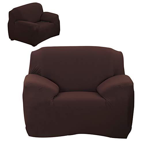 Andraw Valentine's Day Present Funda Antideslizante para sofá Color café, Funda para sofá, Estilo Europeo, Lavable a máquina a(Single Seat 90-140cm)