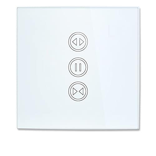 Interruptor De Cortina Cortina WiFi Interruptor de ciega para Disparador de Rodillo Motor eléctrico Home Control de Voz Bricolaje Casa Inteligente Interruptor Persianas WiFi (Color : White Color)