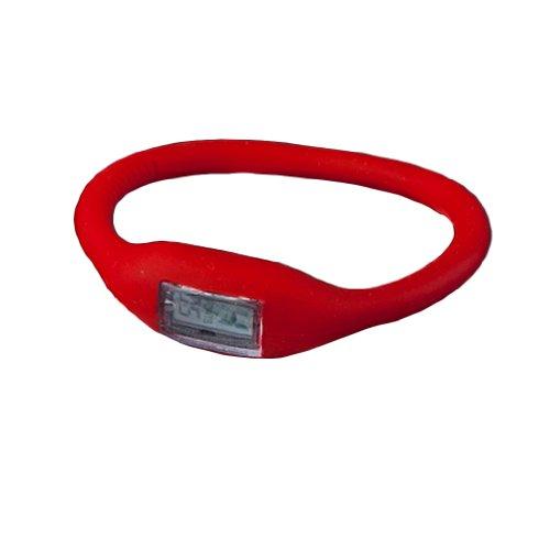 Sconosciuto Yks New Silicone Rubber Jelly Ion Sport Braccialetto da Polso (Rosso)
